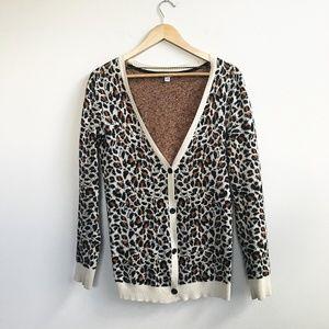 Volcom : Animal Print Cardigan Sweater Size Small